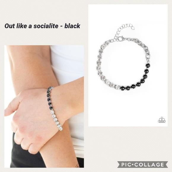 paparazzi Jewelry - Out Like Socialite Black Bracelet